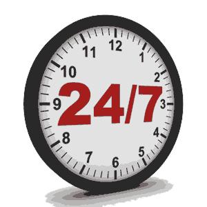 ۲۴ ساعت شبانه روز و ۷ روز هفته