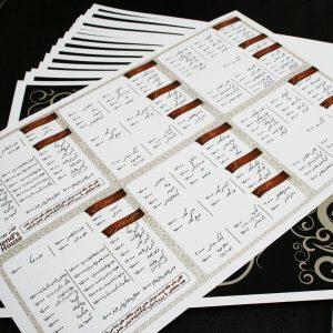قیمت آنلاین و چاپ آنلاین منوی رستوران بدون محدودیت تیراژ