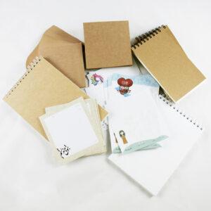 نمونه برگ و دفتر یادداشت تولید شده در فانوس پرینت
